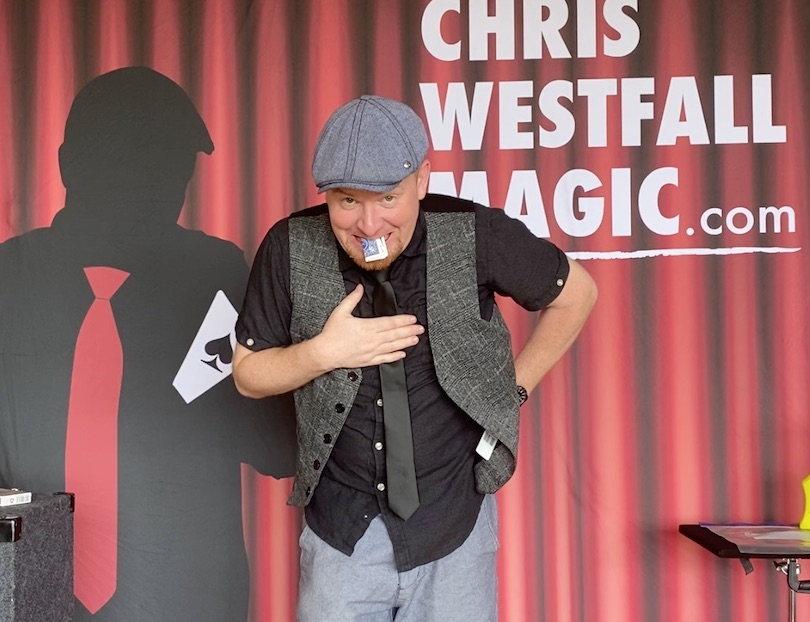 Toronto magician Chris Westfall performs online show